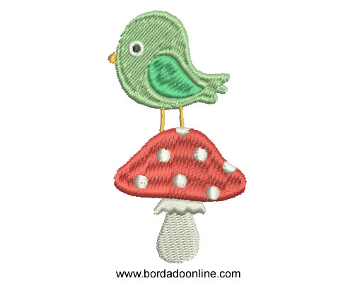 Bordado ave Infantil