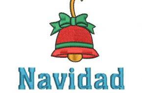 Diseño Bordado: Campana de Navidad listo para Bordar