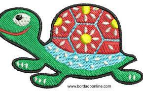 Bordado de Tortuga Infantil para Bordar