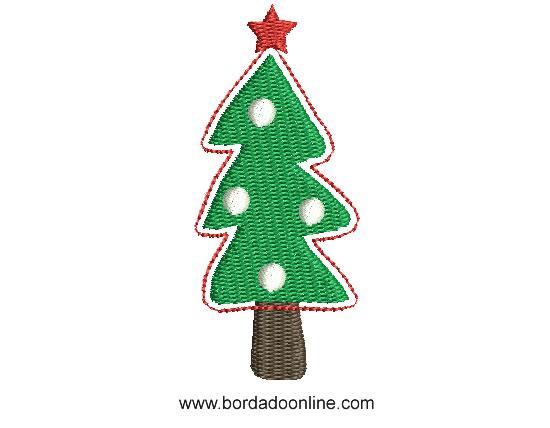 Bonito bordado de rbol de navidad para bordar dise os - Arbol de navidad diseno ...