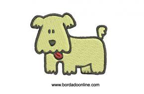 Bordado de Cachorro listo para bordar