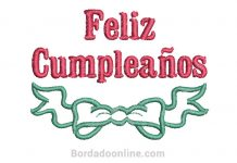 Diseños bordado de Feliz Cumpleaños gratis