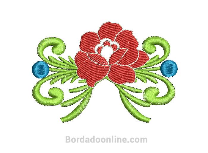 Diseños de rosas para Maquina bordadora