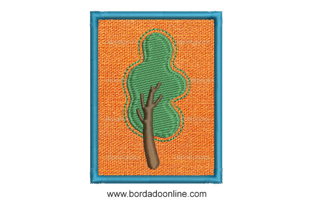 diseños de bordado de árbol con aplicación