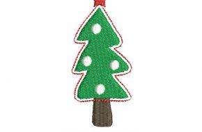 Diseño Bordado de Árbol de Navidad