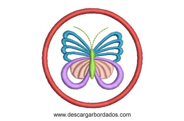 Diseño Bordado de Mariposa para bordar