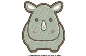 Diseño Bordado de hipopótamo para Bordar