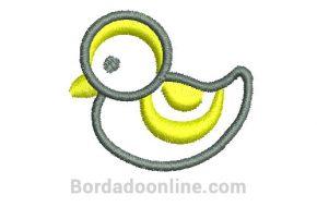 Diseño Bordado de pato listo para bordar