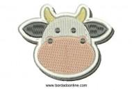 Diseño Bordado de Vaca para Bordar